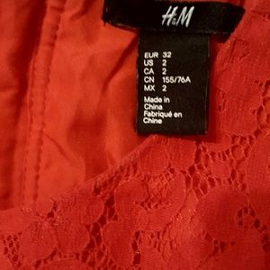 Red summer dress in good condition size 2